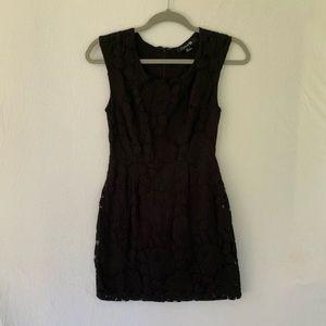 Forever 21 Black Lace Mini Dress